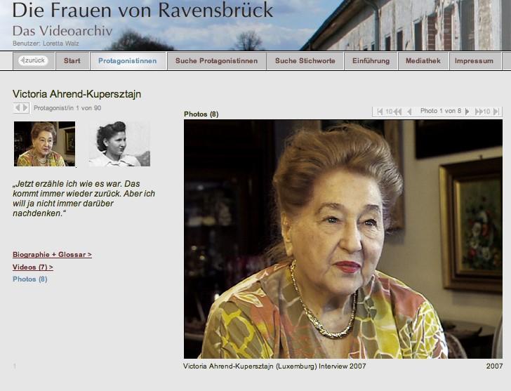 """Das Videoarchiv """"Die Frauen von Ravensbrück"""" als Lernressource in Anwesenheit der Filmemacherin Loretta Walz"""